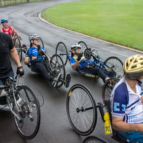 Hand Cycling Australia Day 2015